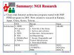 summary ngi research
