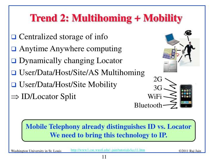 Trend 2: Multihoming + Mobility
