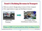 trend 4 declining revenues in transport