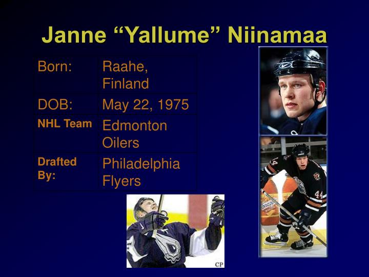 """Janne """"Yallume"""" Niinamaa"""