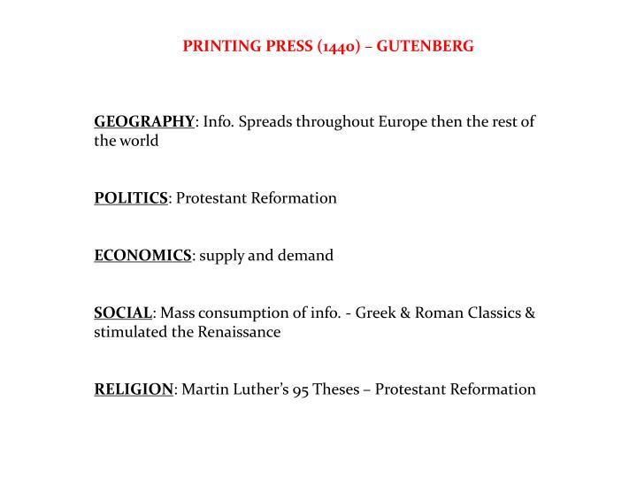 PRINTING PRESS (1440) – GUTENBERG