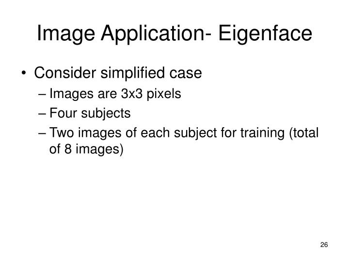 Image Application- Eigenface