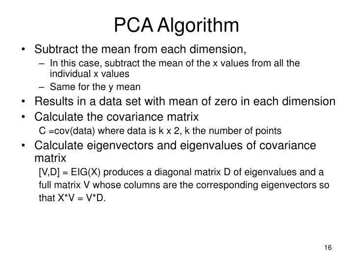 PCA Algorithm