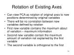 rotation of existing axes