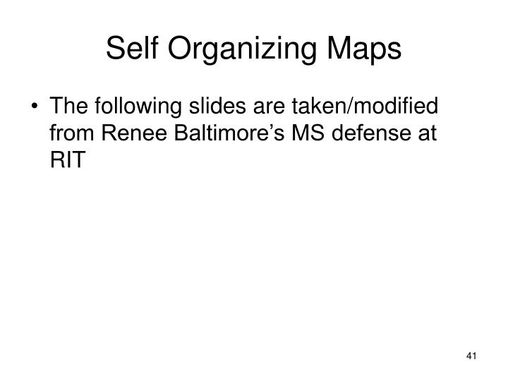 Self Organizing Maps