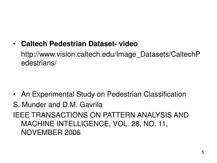 Caltech Pedestrian Dataset- video