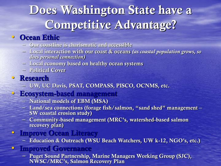 Does Washington State have a Competitive Advantage?