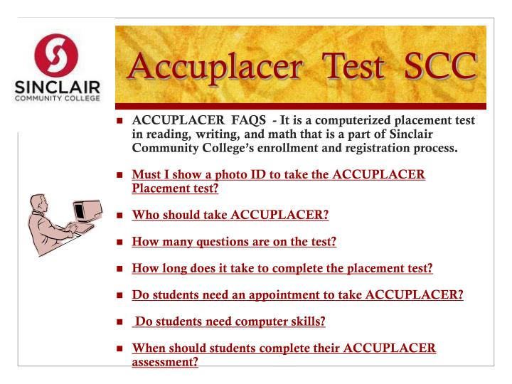 Accuplacer  Test  SCC