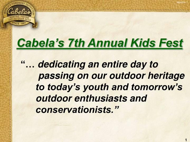 Cabela's 7th Annual Kids Fest