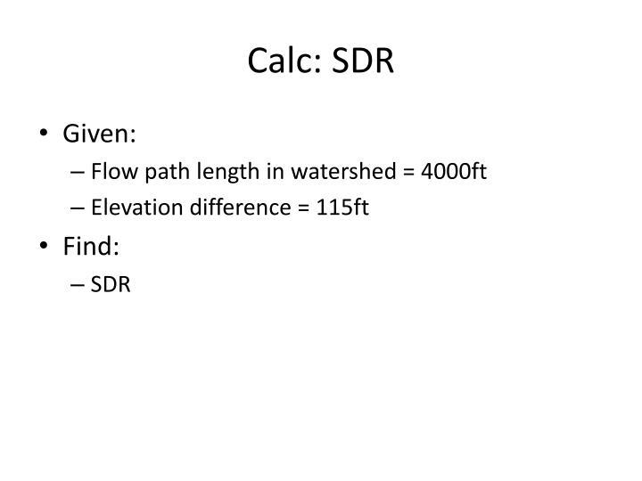 Calc: SDR