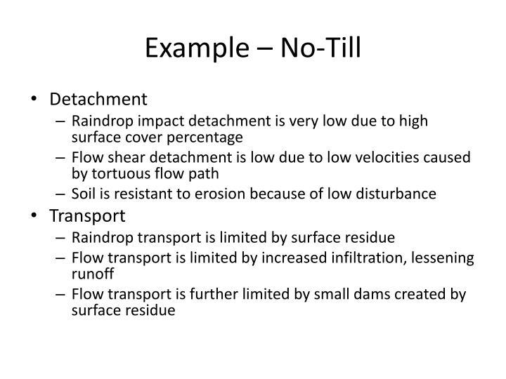 Example – No-Till