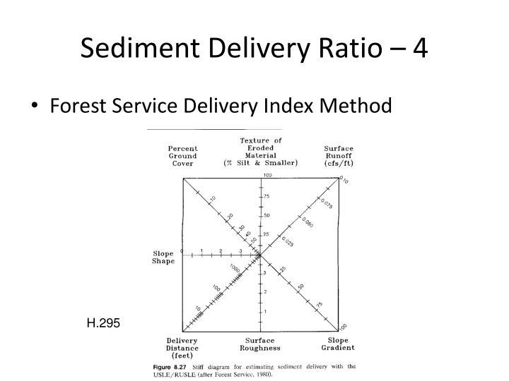 Sediment Delivery Ratio – 4