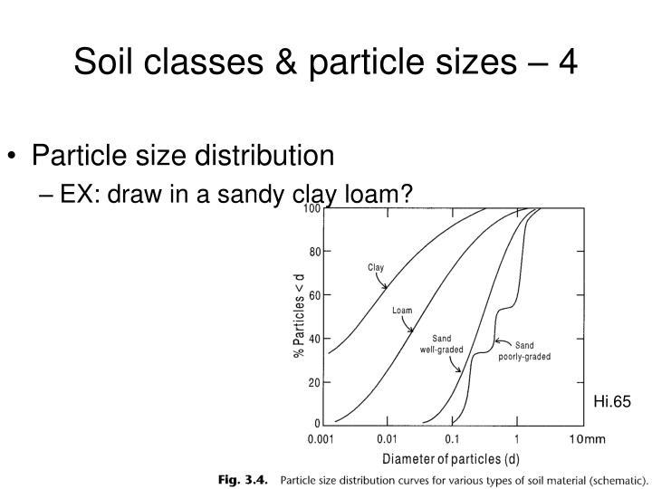 Soil classes & particle sizes – 4