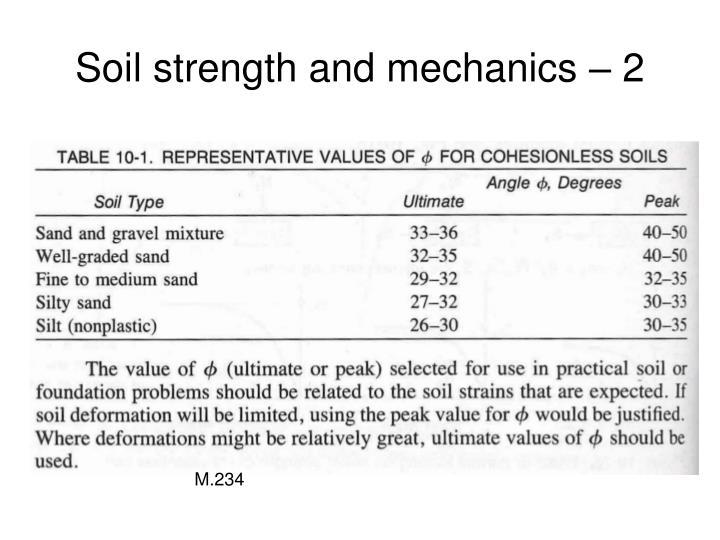 Soil strength and mechanics – 2