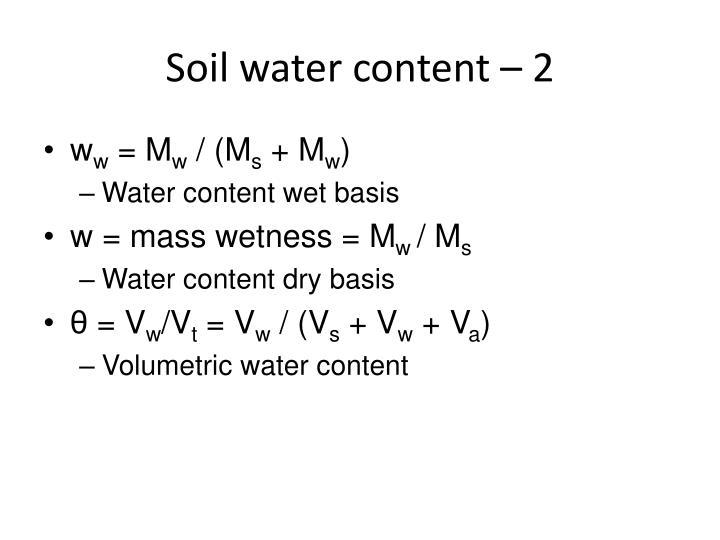 Soil water content – 2
