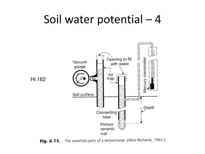 Soil water potential – 4
