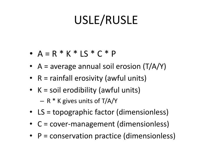 USLE/RUSLE