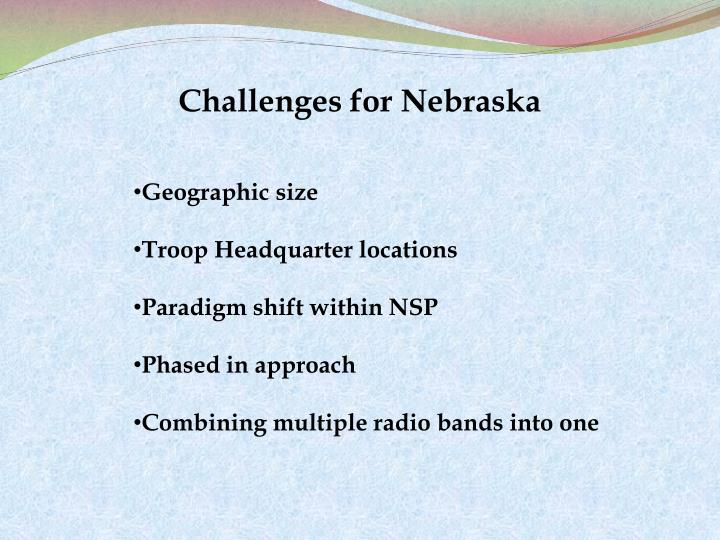 Challenges for Nebraska