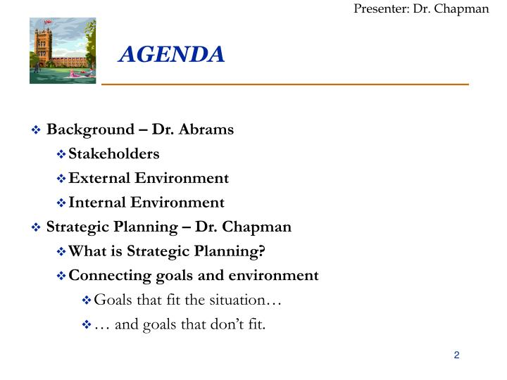 Presenter: Dr. Chapman