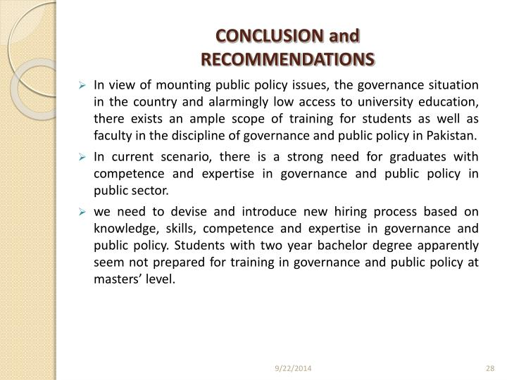 CONCLUSION and