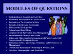 modules of questions