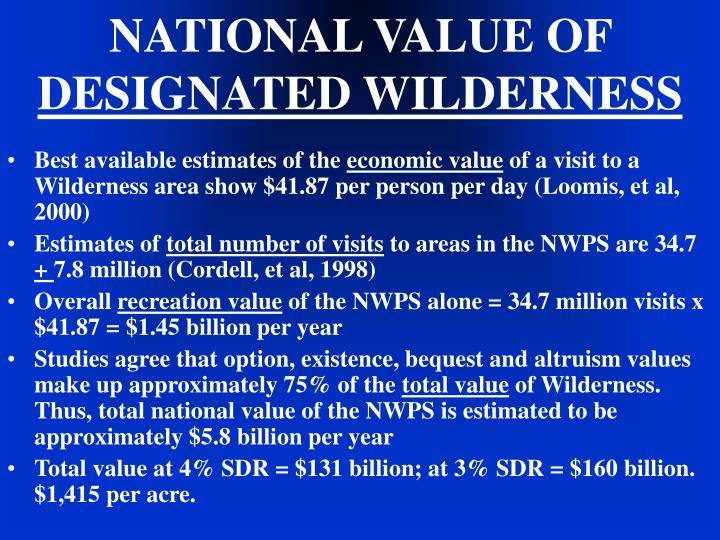 NATIONAL VALUE OF
