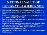 national value of designated wilderness