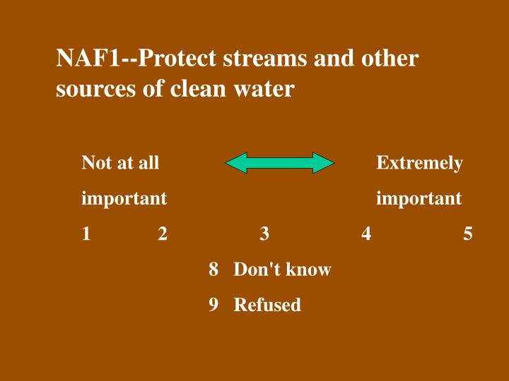 NAF1--Protect streams and other sources of clean water