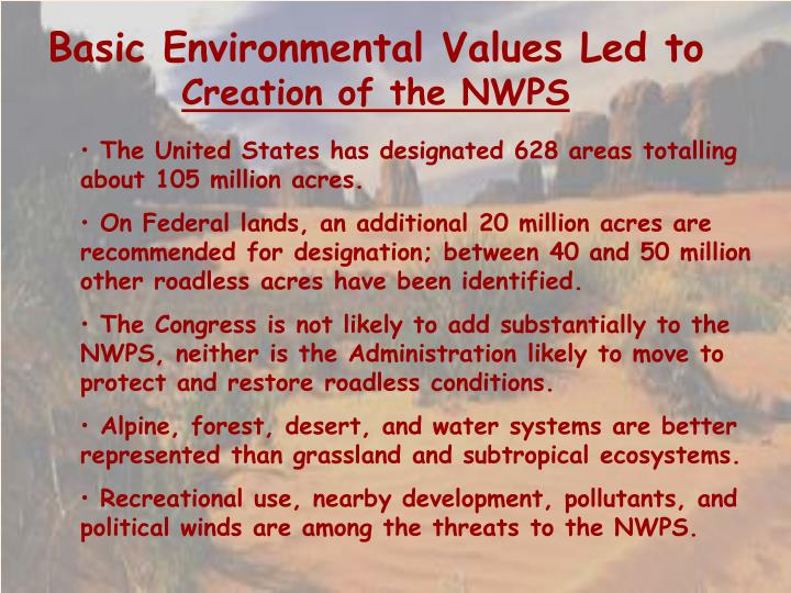 Basic Environmental Values Led to
