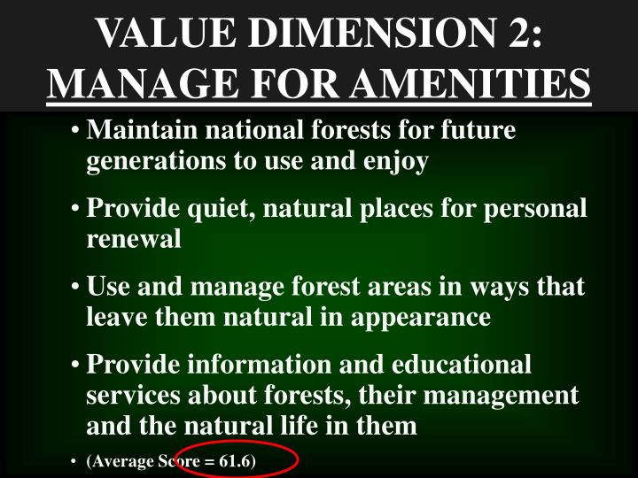VALUE DIMENSION 2: