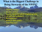 what is the biggest challenge in being stewards of the nwps