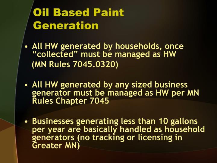 Oil Based Paint