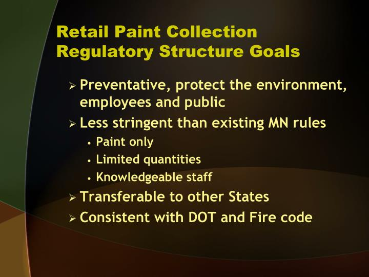 Retail Paint Collection