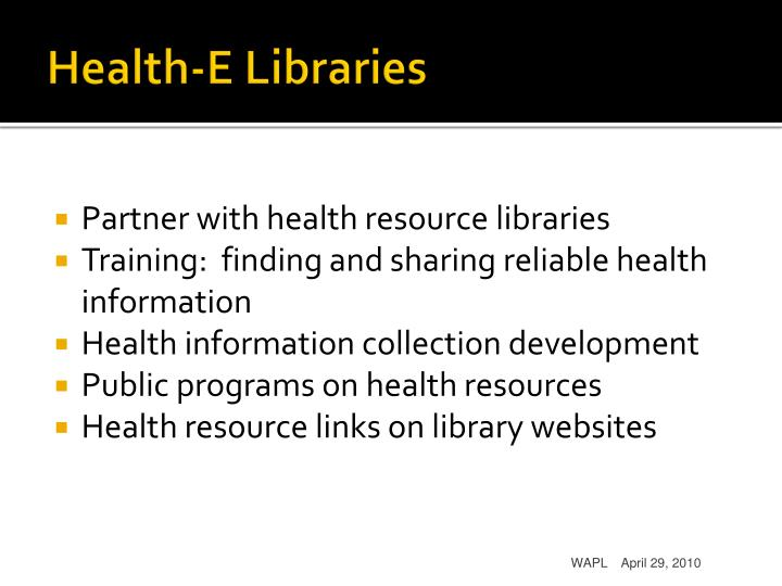 Health-E Libraries