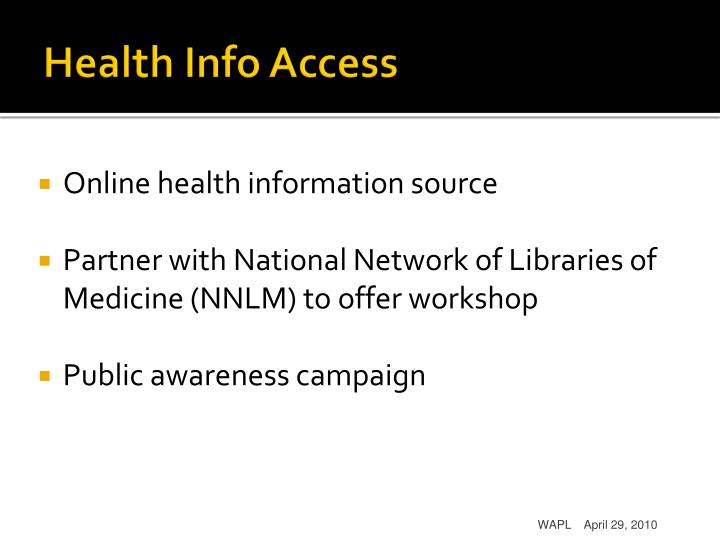 Health Info Access