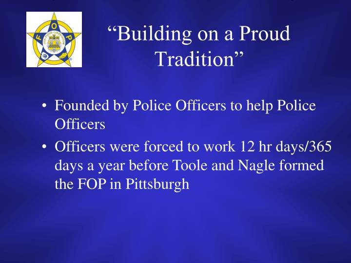 """Building on a Proud Tradition"""