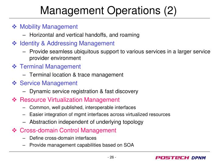 Management Operations (2)