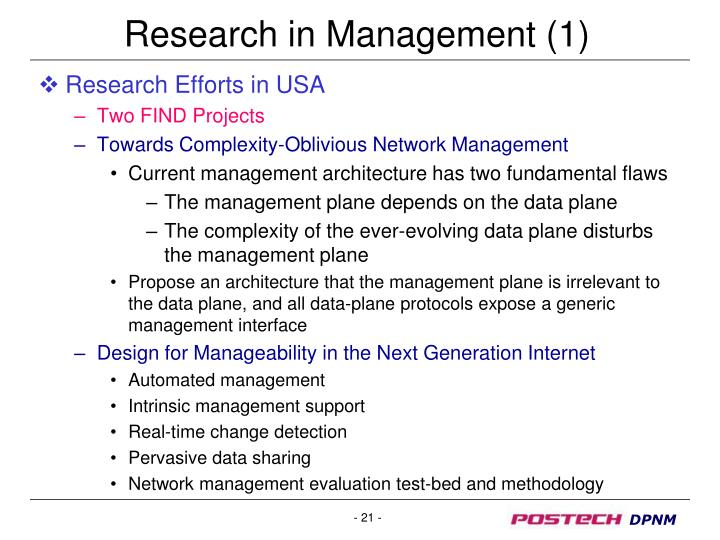 Research in Management (1)
