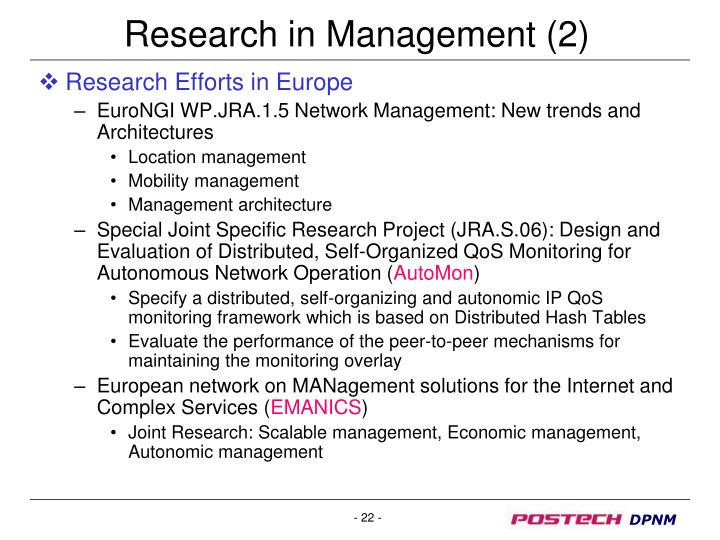 Research in Management (2)