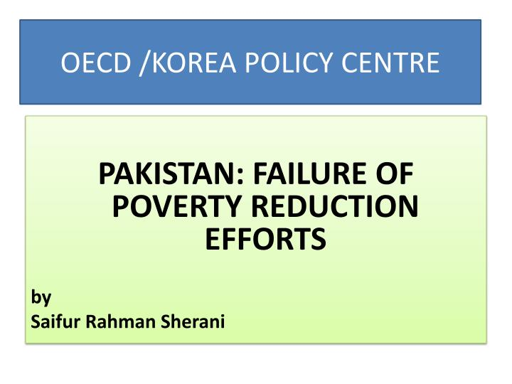 Oecd korea policy centre