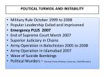 political turmoil and instability