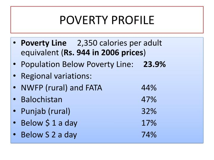 Poverty profile