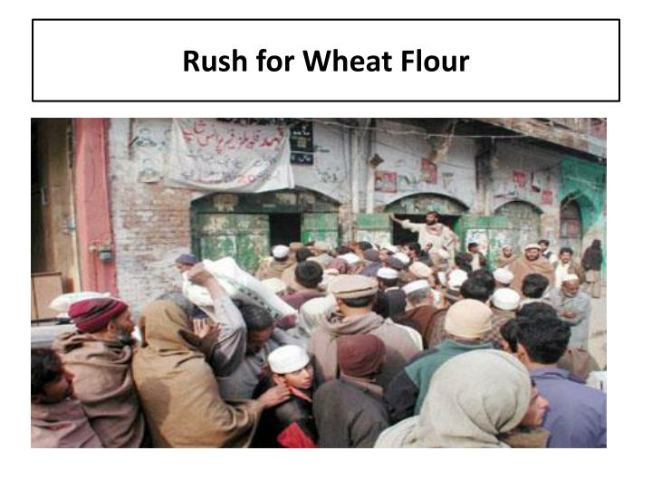 Rush for Wheat Flour