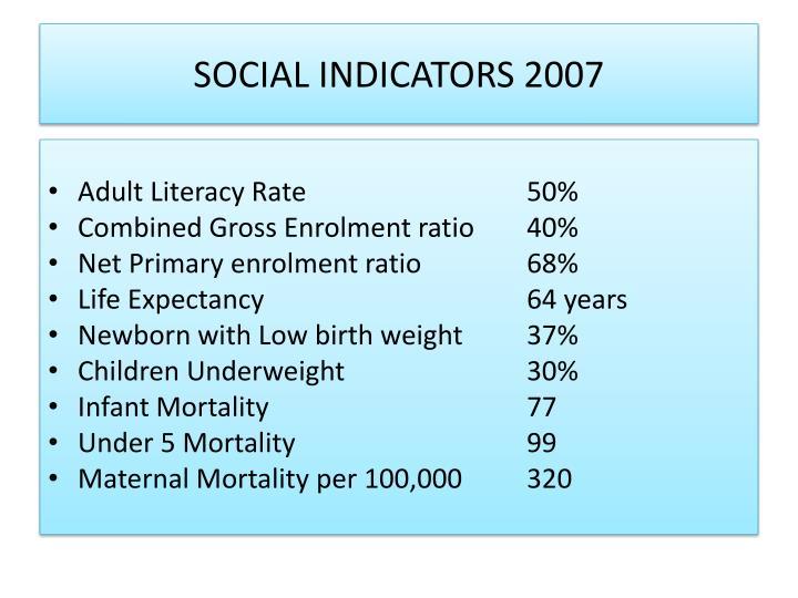 SOCIAL INDICATORS 2007
