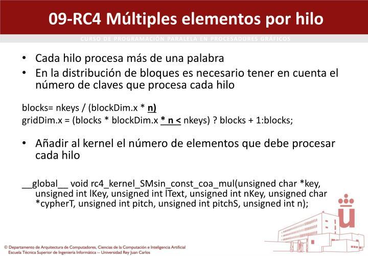 09-RC4 Múltiples elementos por hilo