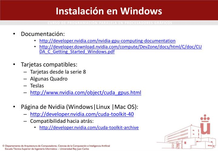 Instalaci n en windows