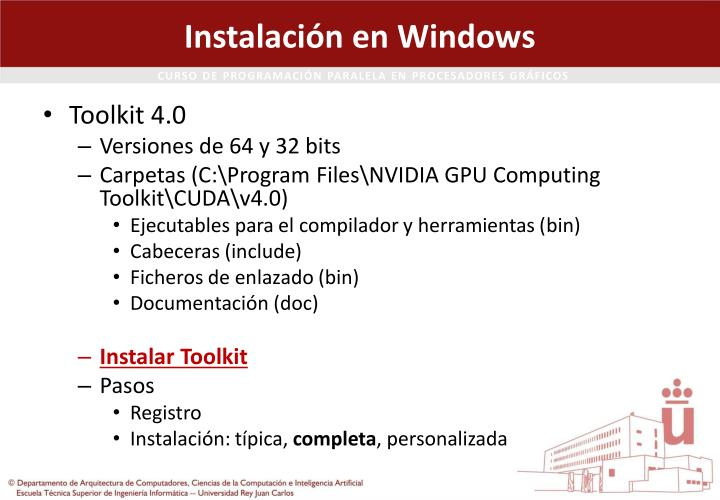 Instalación en Windows