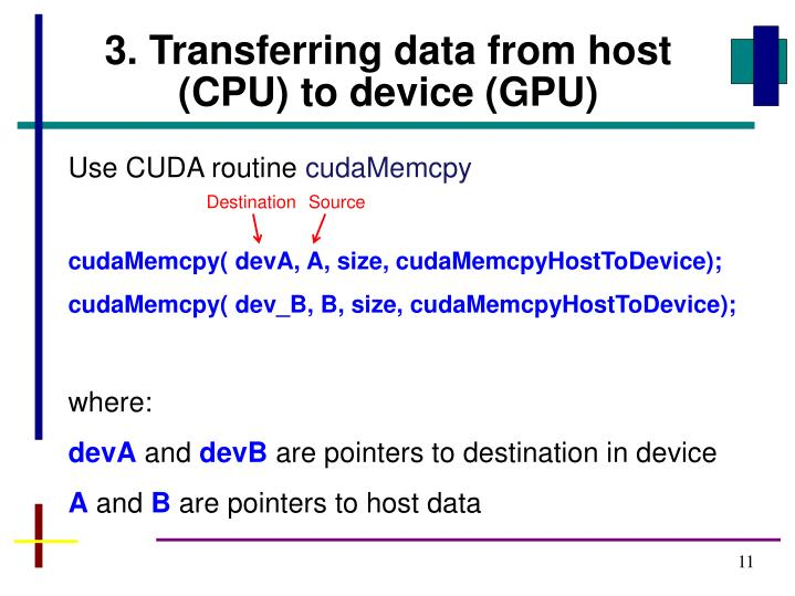 3. Transferring data from host (CPU) to device (GPU)