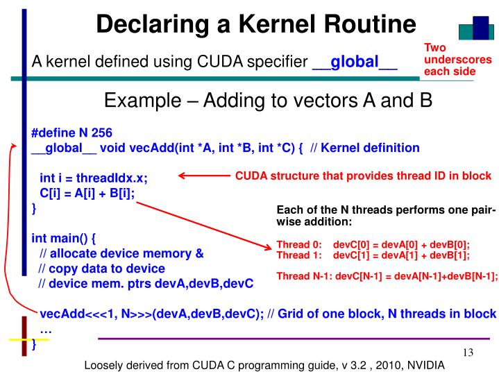 Declaring a Kernel Routine