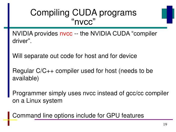 Compiling CUDA programs